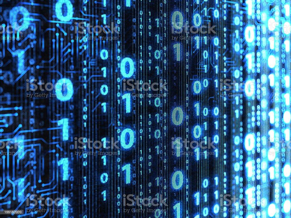 Binary code background royalty-free stock vector art