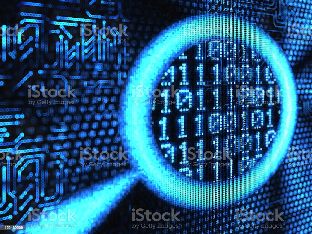 binary code royalty-free stock vector art