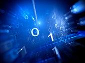 Binary code in cyberspace