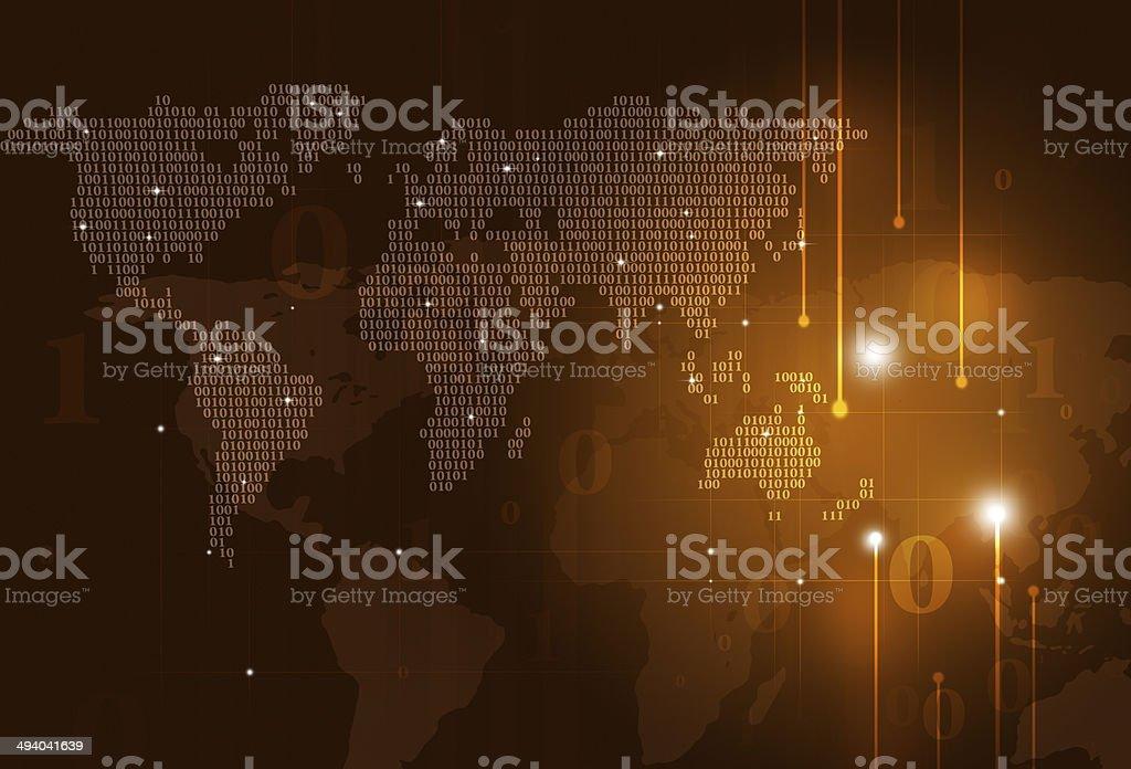 Binary Code Map royalty-free stock vector art