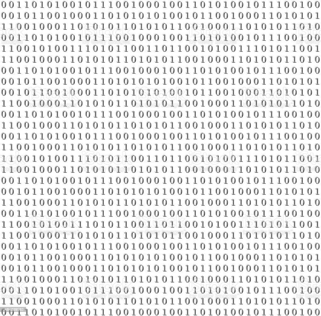 Binary system code grey background vector art illustration