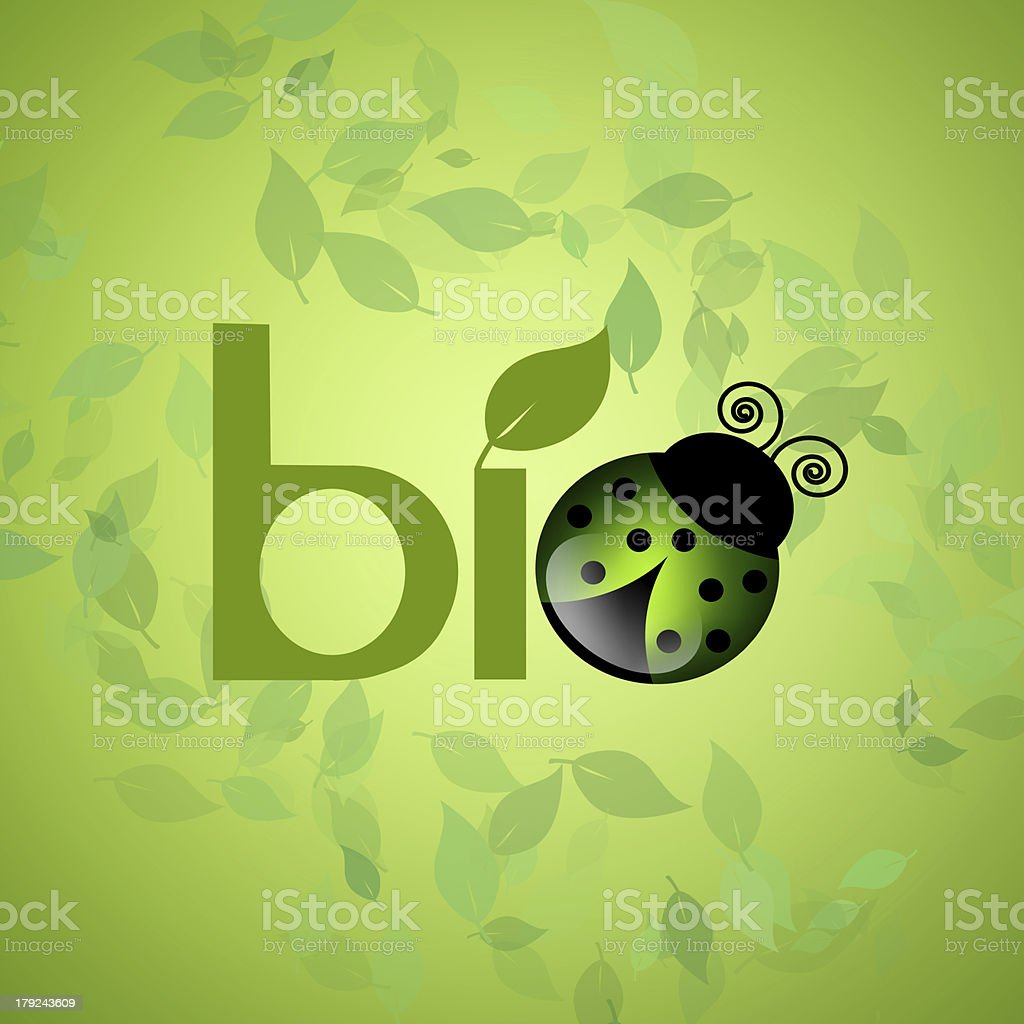 bio symbol for ecology royalty-free stock vector art