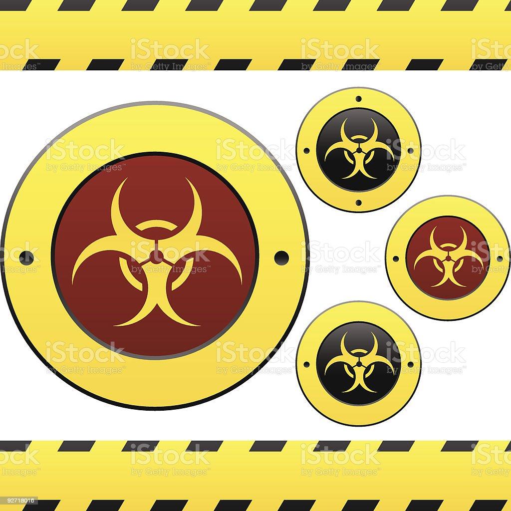 Biohazard or flu warning labels vector art illustration