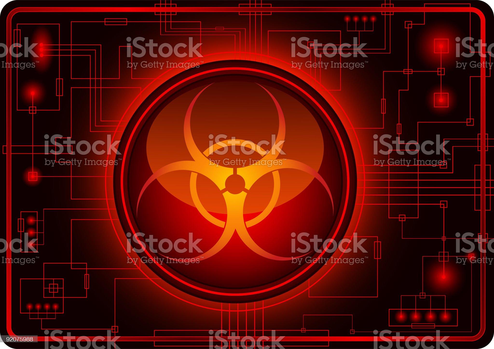 Biohazard sign royalty-free stock vector art