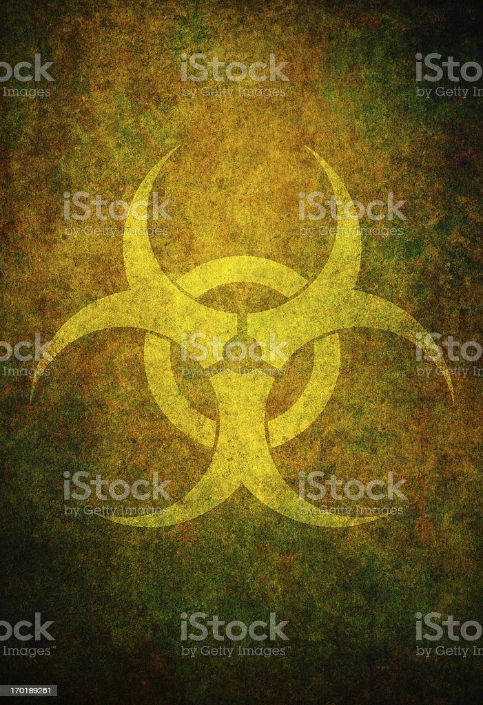 biohazard symbol on brown grungy texture royalty-free stock vector art