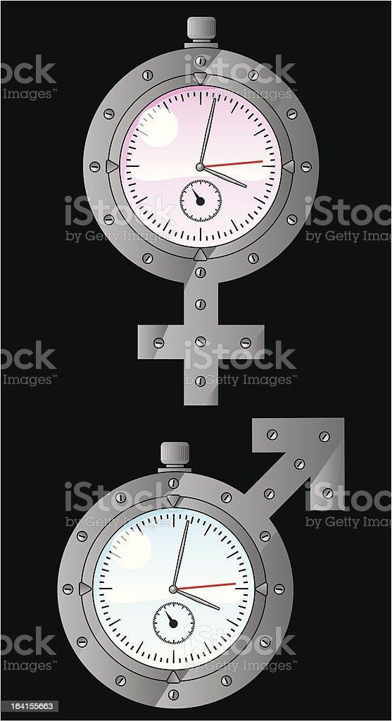 biological clock royalty-free stock vector art