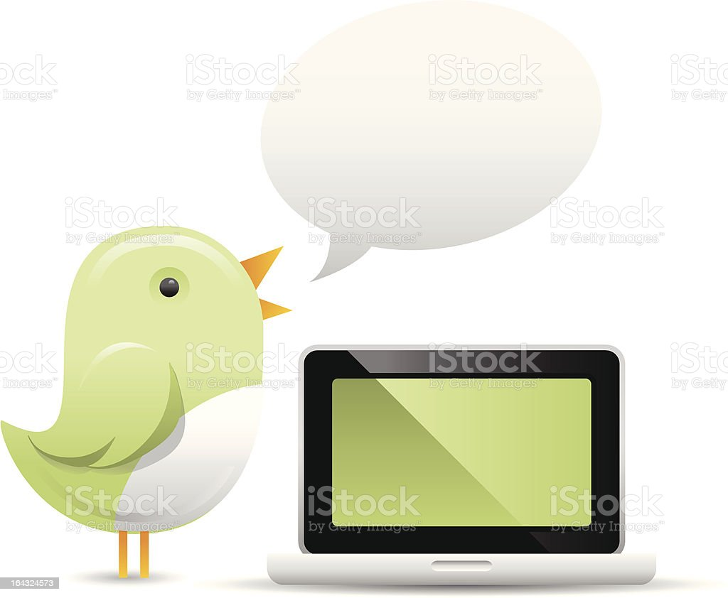 Bird Messenger royalty-free stock vector art