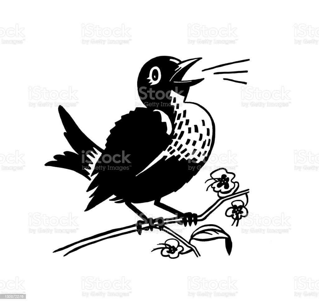 Bird Singing royalty-free stock vector art