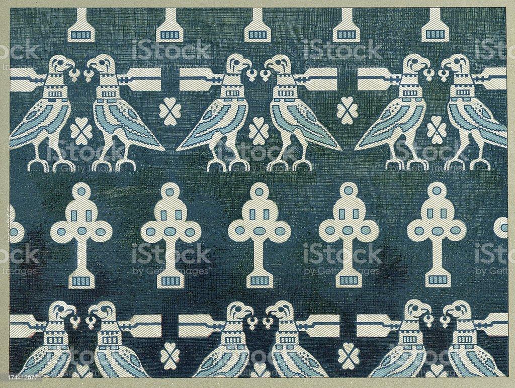 Birds Affronte Pattern royalty-free stock vector art