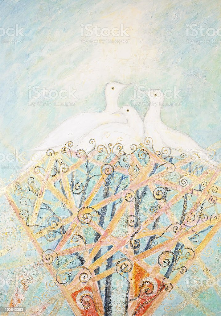 Aves de la libertad y la paz illustracion libre de derechos libre de derechos