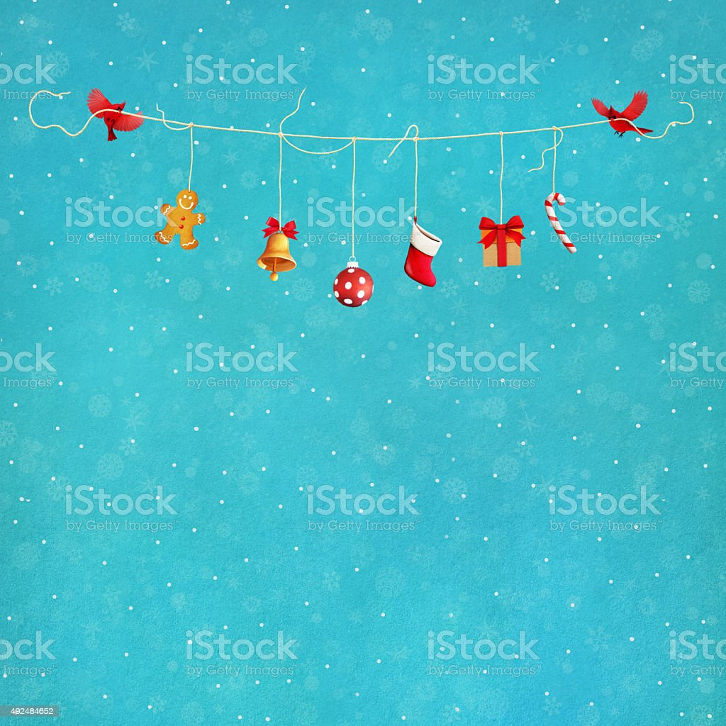 Birds with gifts vector art illustration