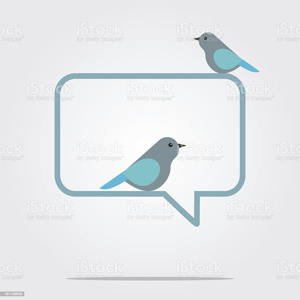 Birds with speech bubble royalty-free stock vector art