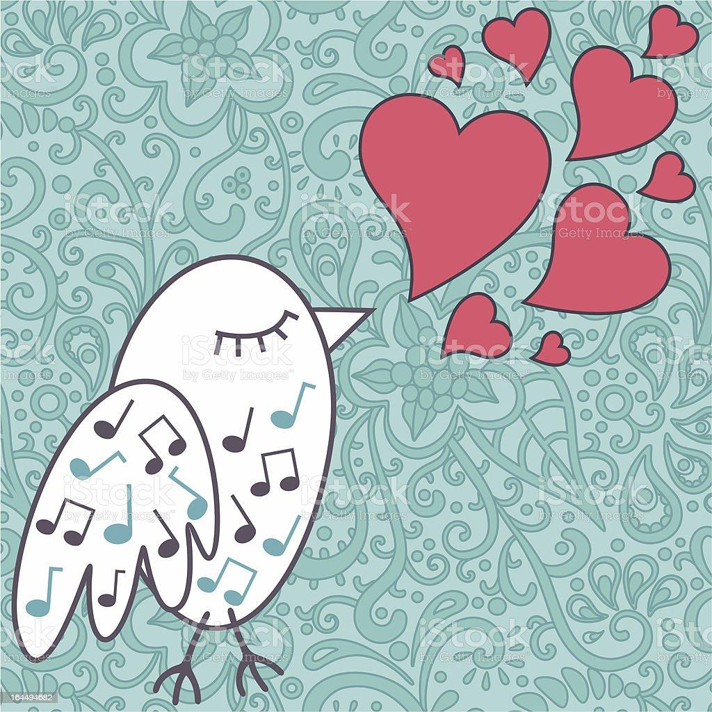 bird-singing-a-love-song royalty-free stock vector art
