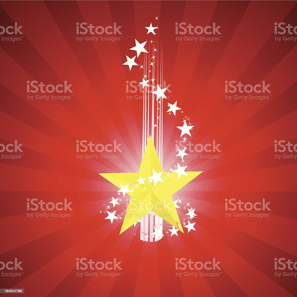 Birth of a star royalty-free stock vector art