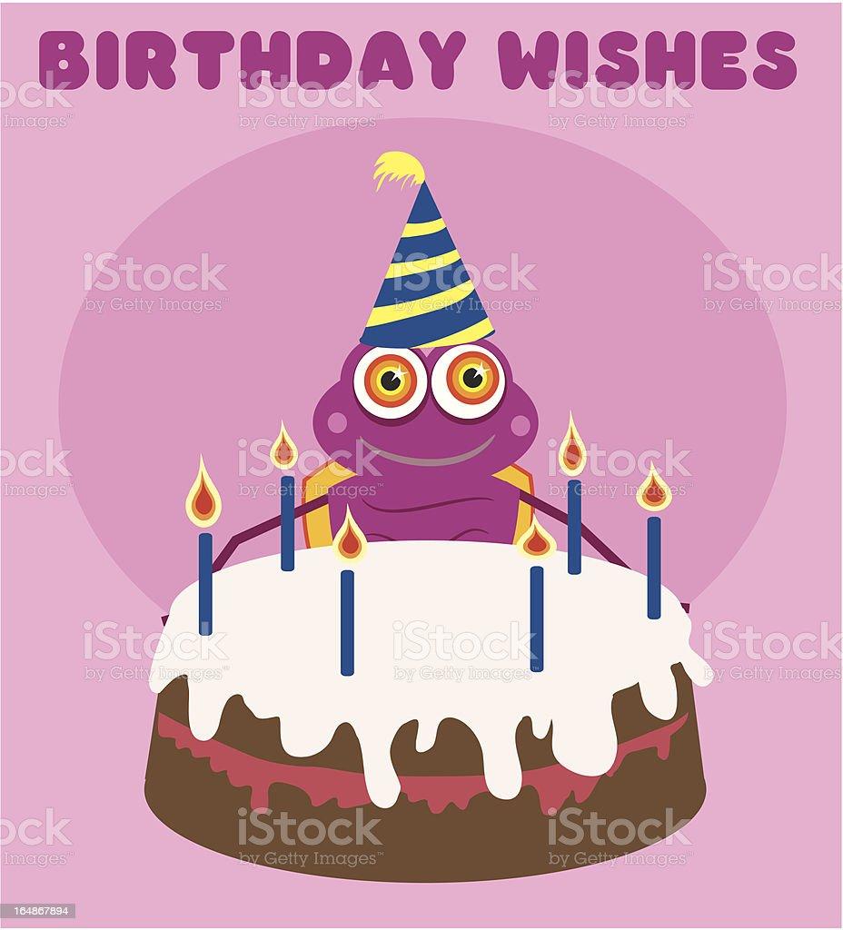 Birthday Bug royalty-free stock vector art