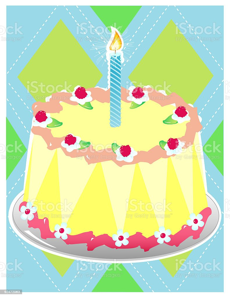Birthday Cake - Kitsch Food royalty-free stock vector art