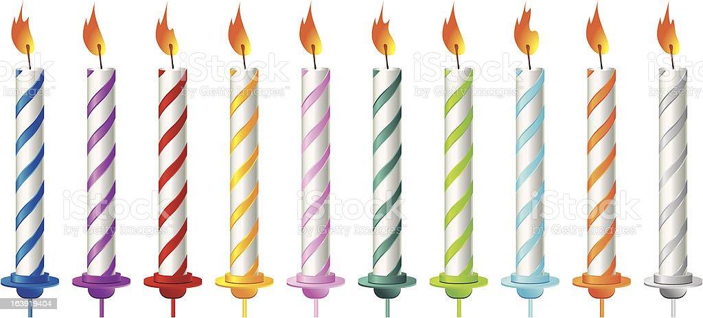Birthday candles royalty-free stock vector art