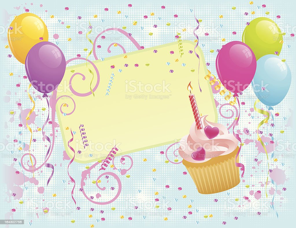 Birthday Card royalty-free stock vector art