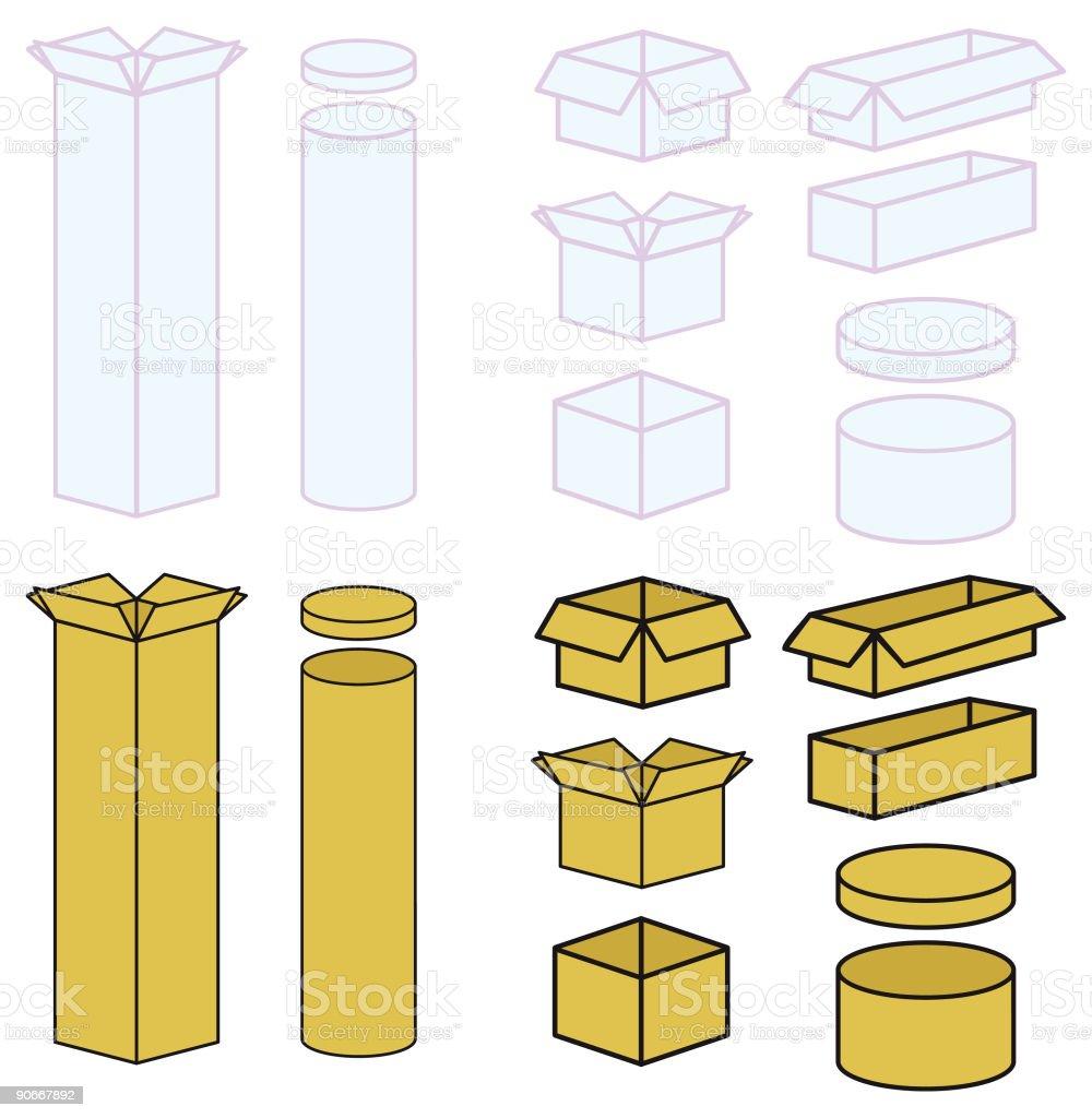 Bit boxy (Vector) royalty-free stock vector art