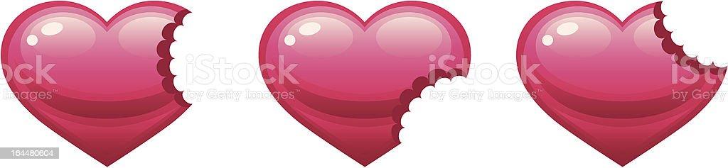 Bitten heart royalty-free stock vector art