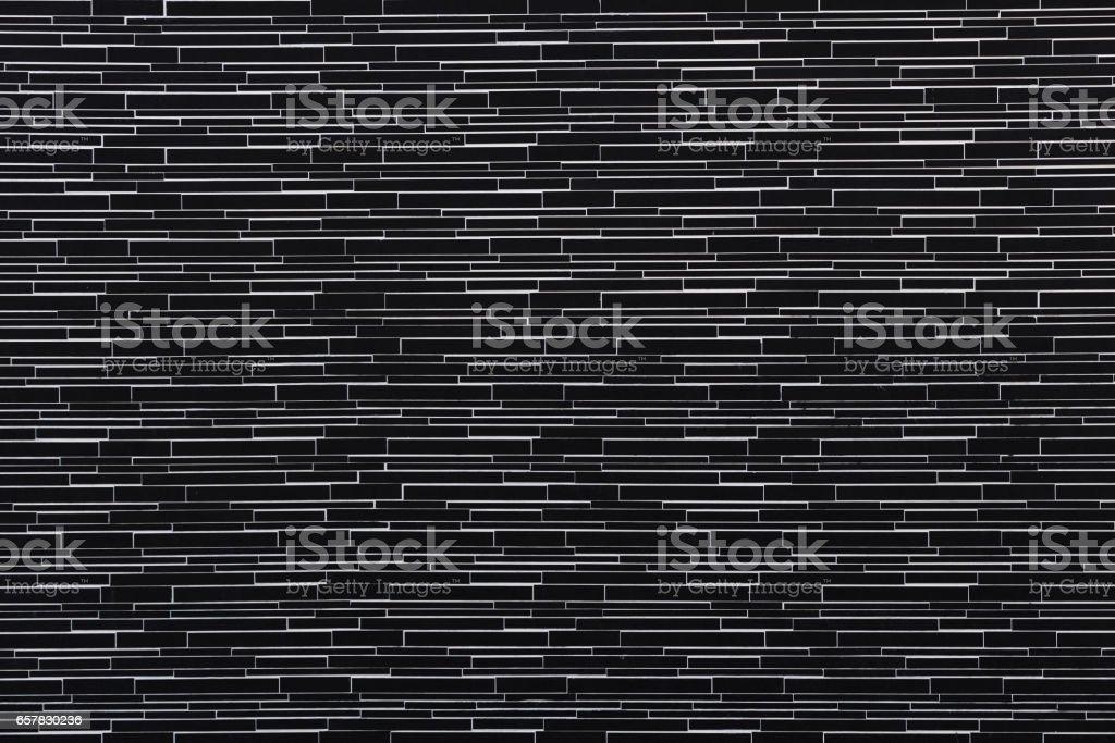 Black brick wall background. vector art illustration