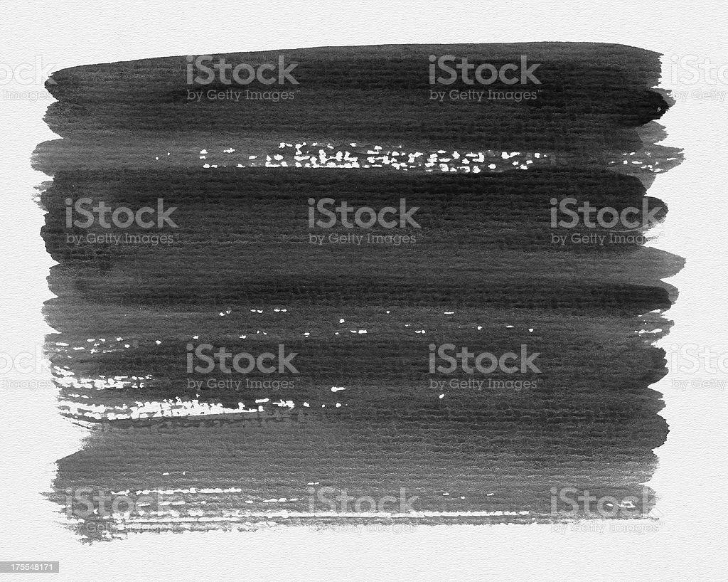 Black Brush Strokes (Clipping Path) royalty-free stock vector art