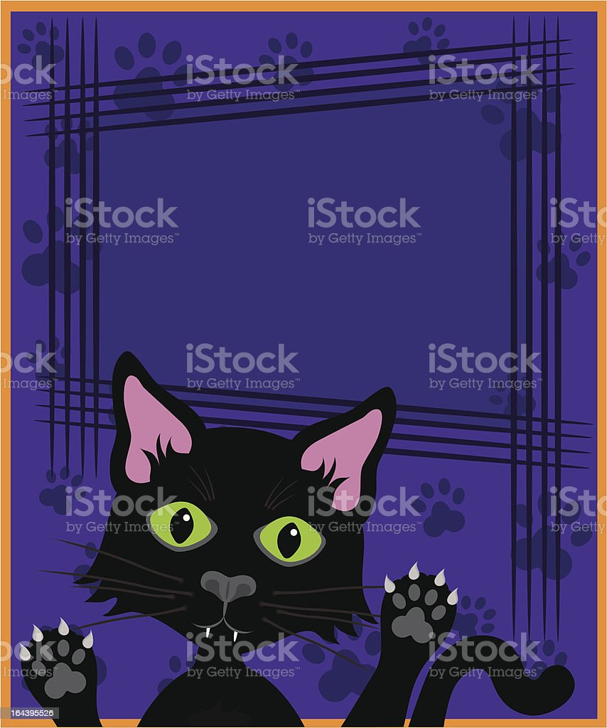 Black cat claw mark sign with copy space. royalty-free stock vector art