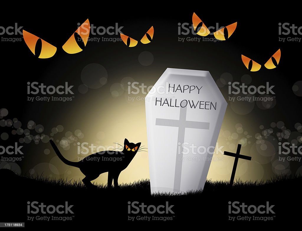 Black cat of Halloween royalty-free stock vector art