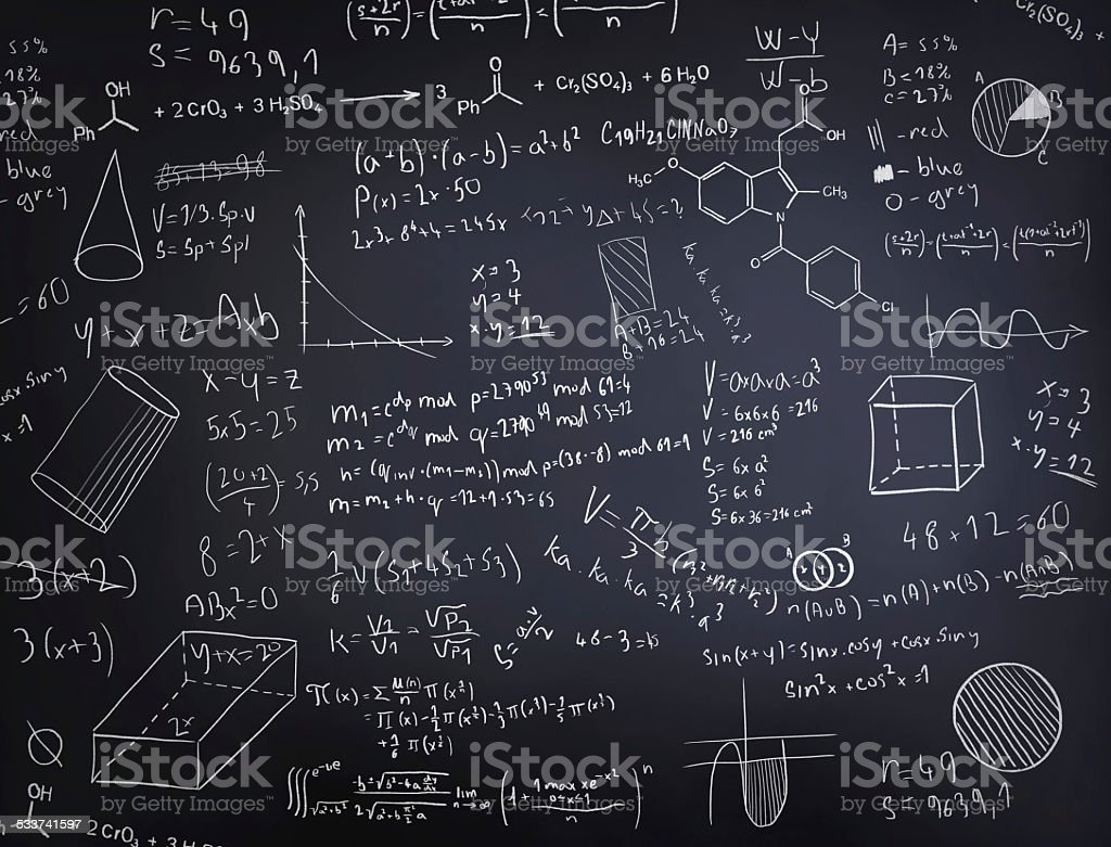 Black chalkboard vector art illustration
