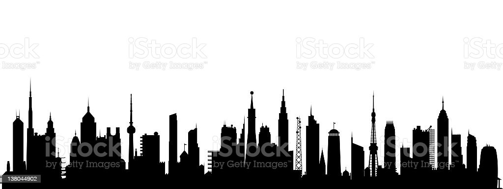 Black Cityscape royalty-free stock vector art