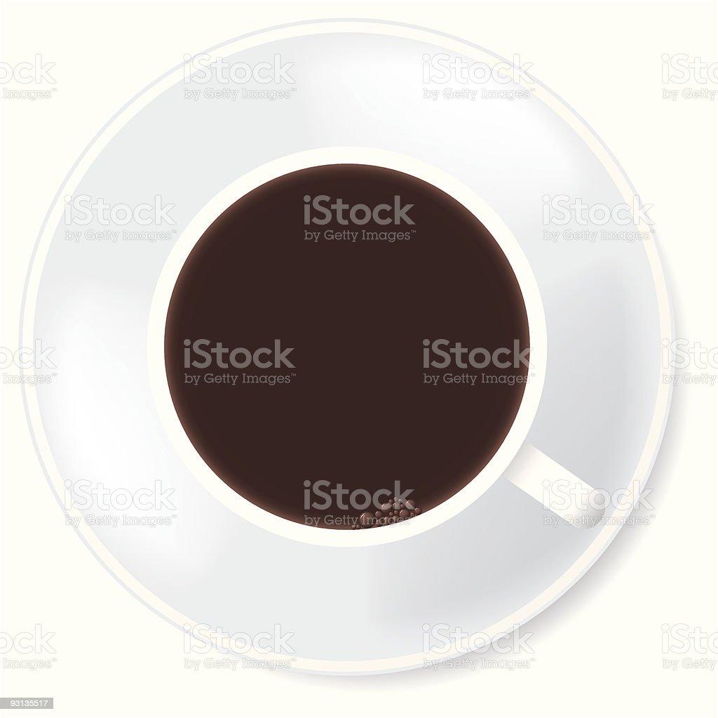 Black coffee in white mug. royalty-free stock vector art