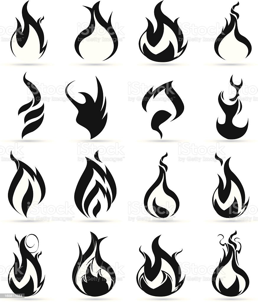 black flame royalty-free stock vector art