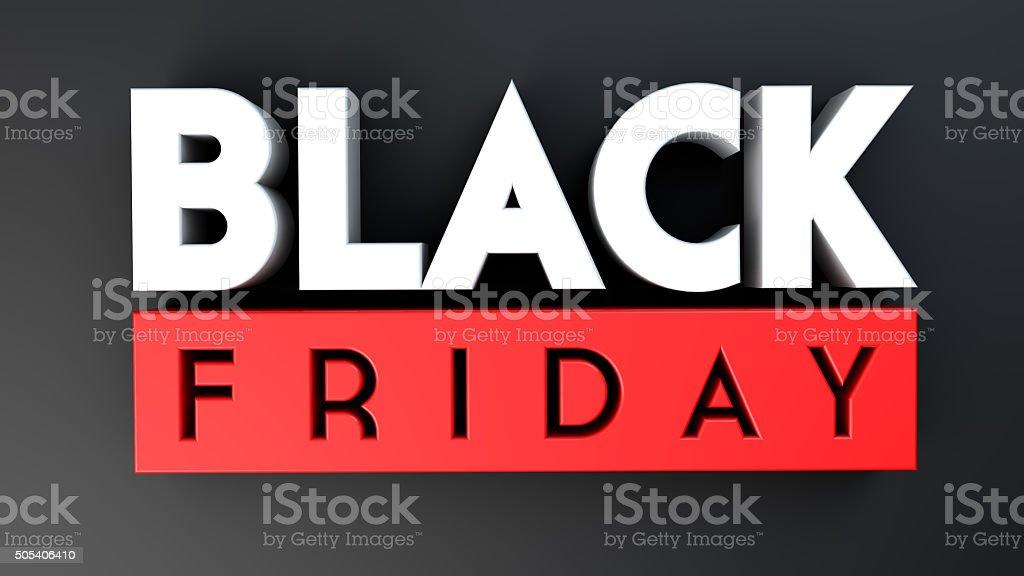 Black Friday 3D on black background vector art illustration