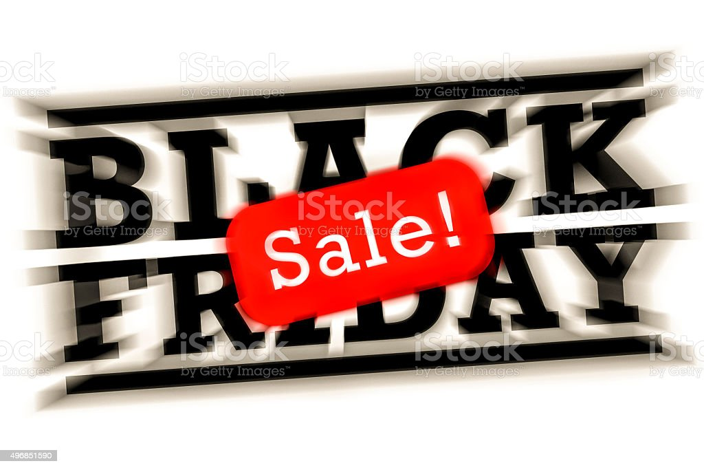 Black Friday sale vector art illustration