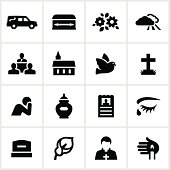 Black Funeral Icons