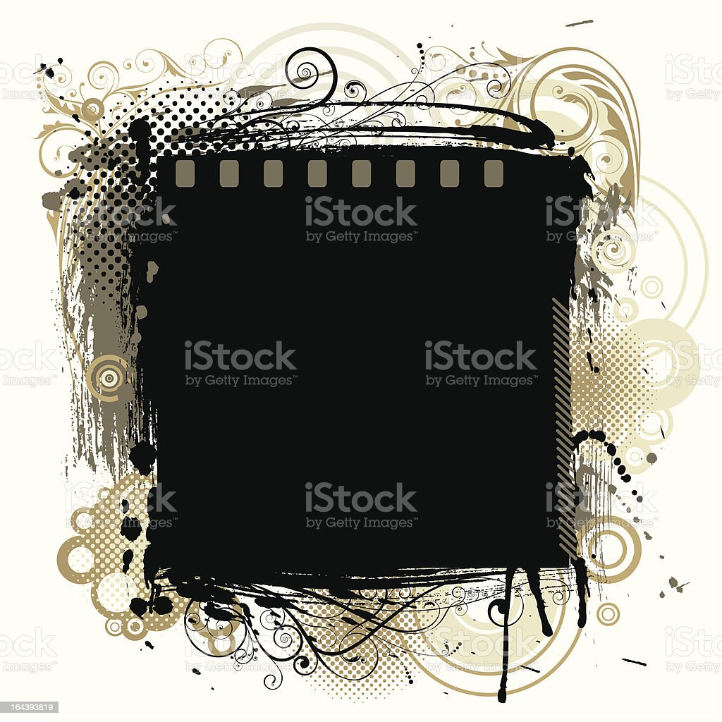 Black grunge background royalty-free stock vector art