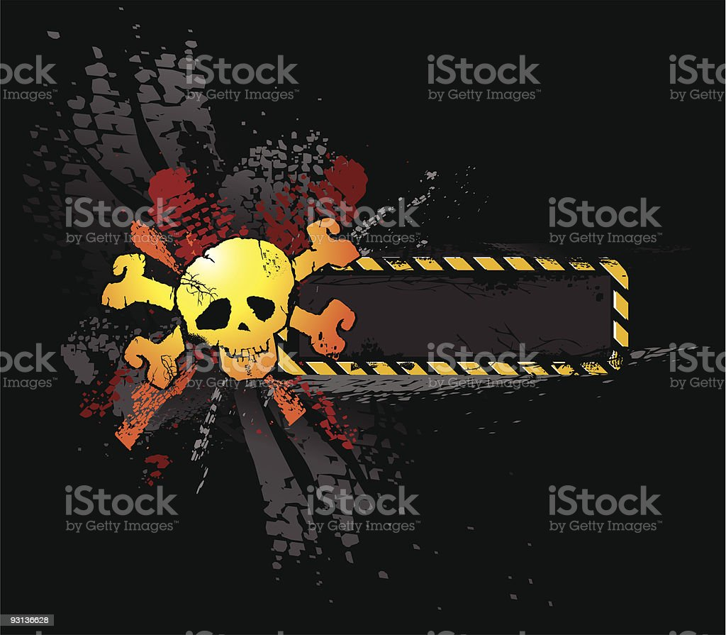 Black grunge skull vector royalty-free stock vector art