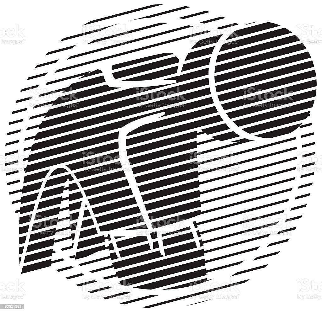 Black Hammer crest in Vector royalty-free stock vector art