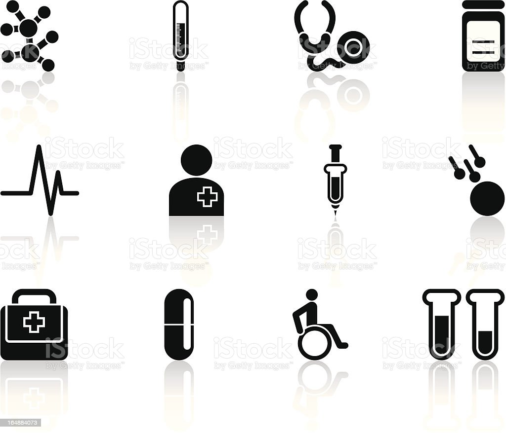 black healthcare icons royalty-free stock vector art