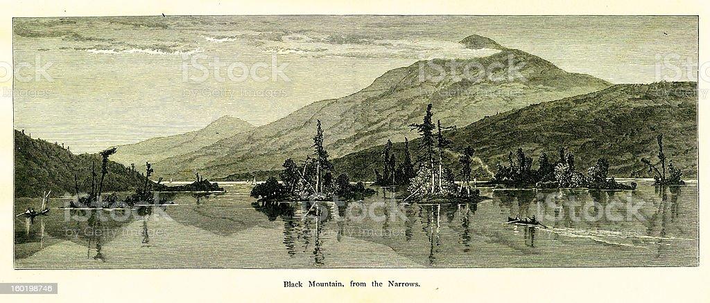 Black Mountain, New York royalty-free stock vector art