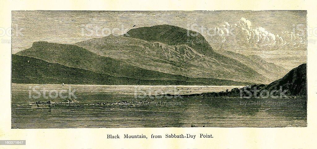 Black Mountain, New York vector art illustration