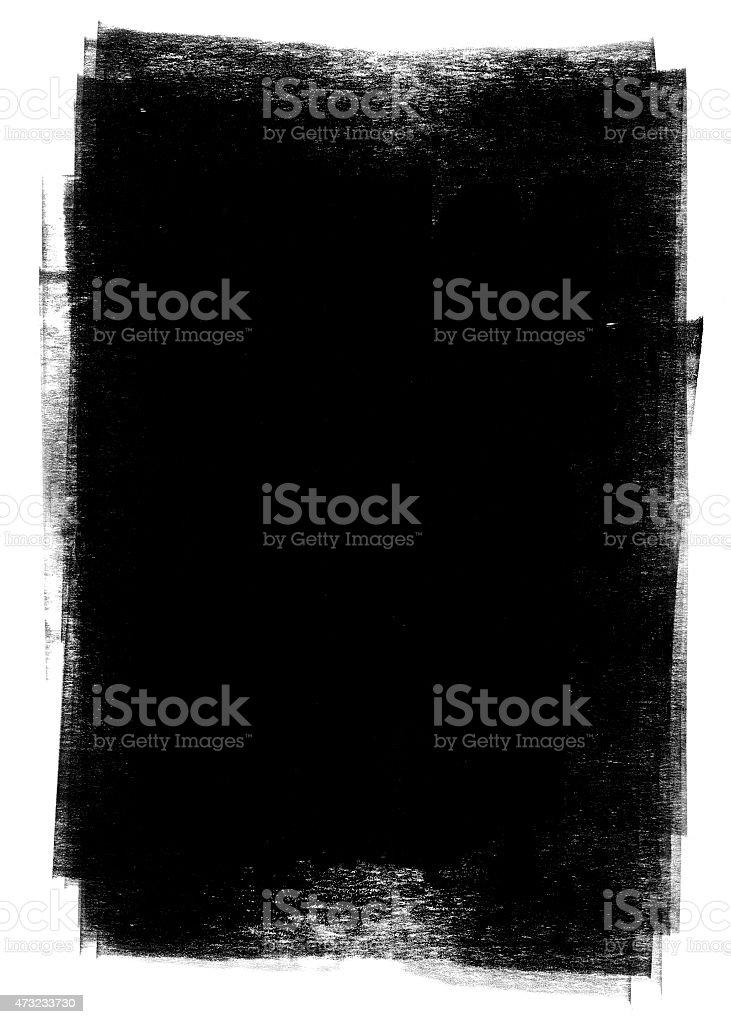 Black paint grunge background vector art illustration