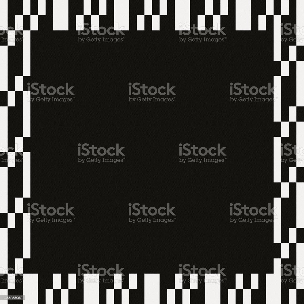 Black paper with white frame geometric pattern vector art illustration