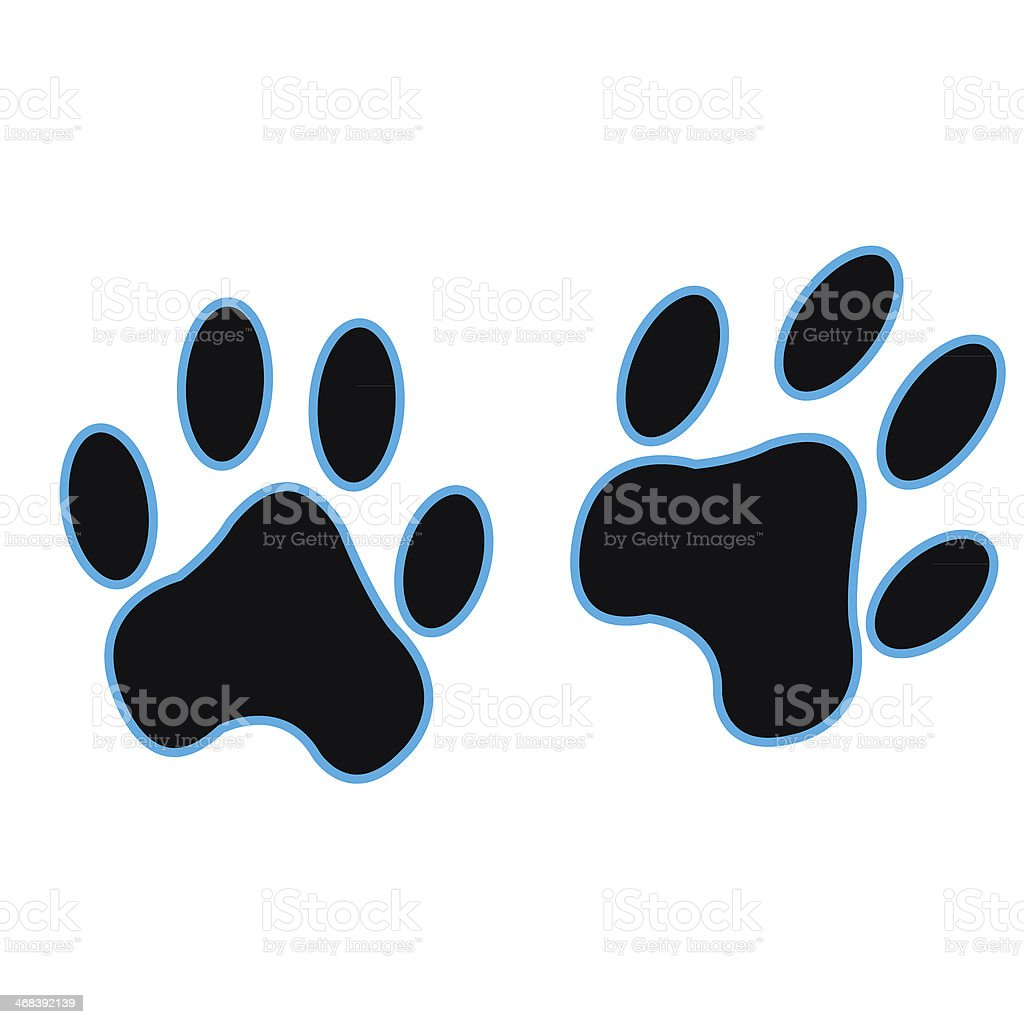 Black paw print royalty-free stock vector art