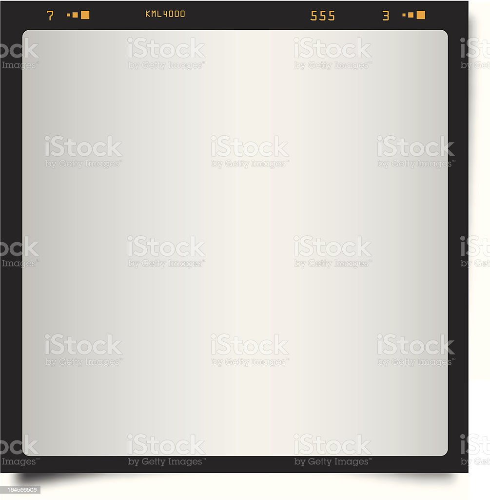 Black Polaroid Style Frame vector art illustration