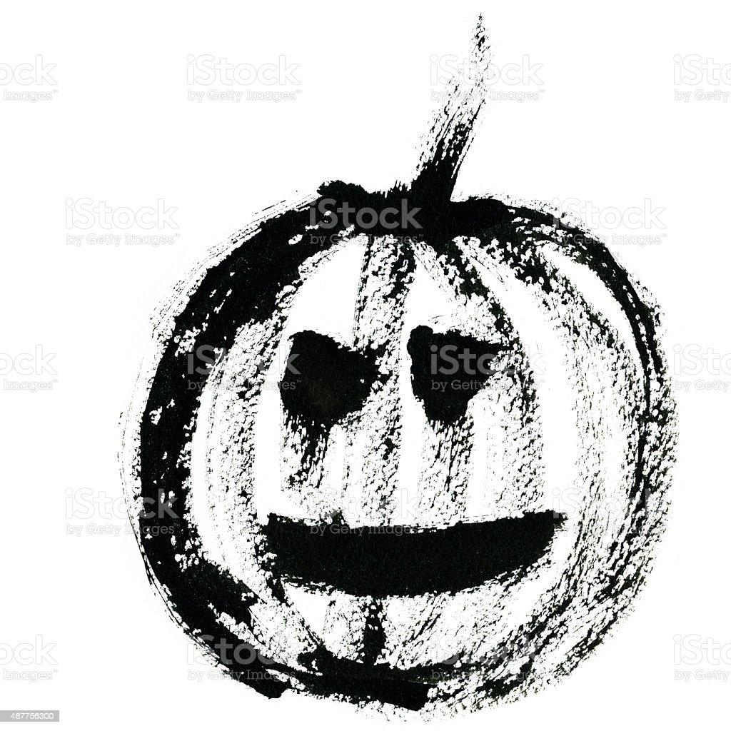 Black pumpkin illustration vector art illustration