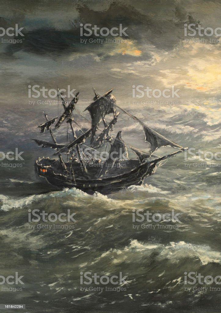 Black sails royalty-free stock vector art