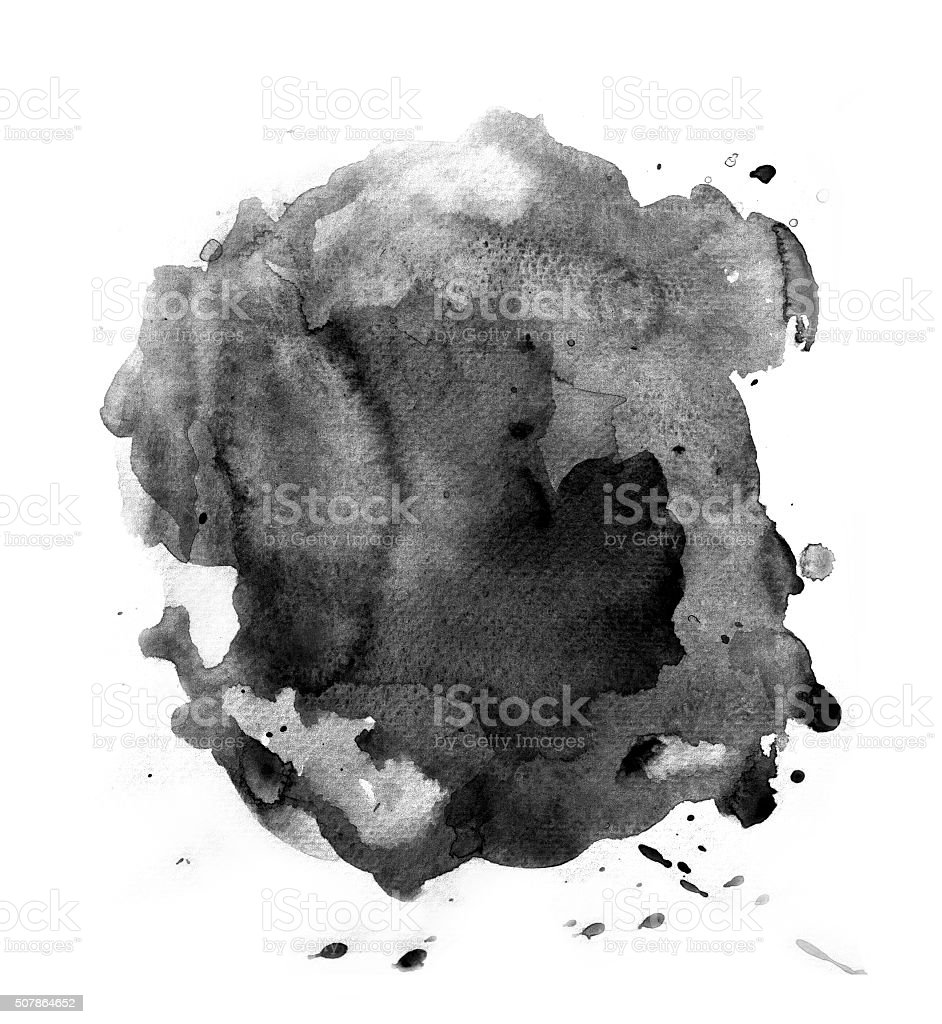 Black splash of watercolor vector art illustration
