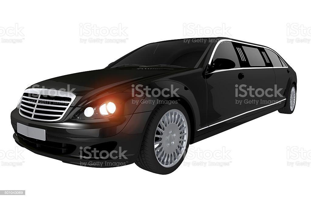 Black Stretch Limousine vector art illustration