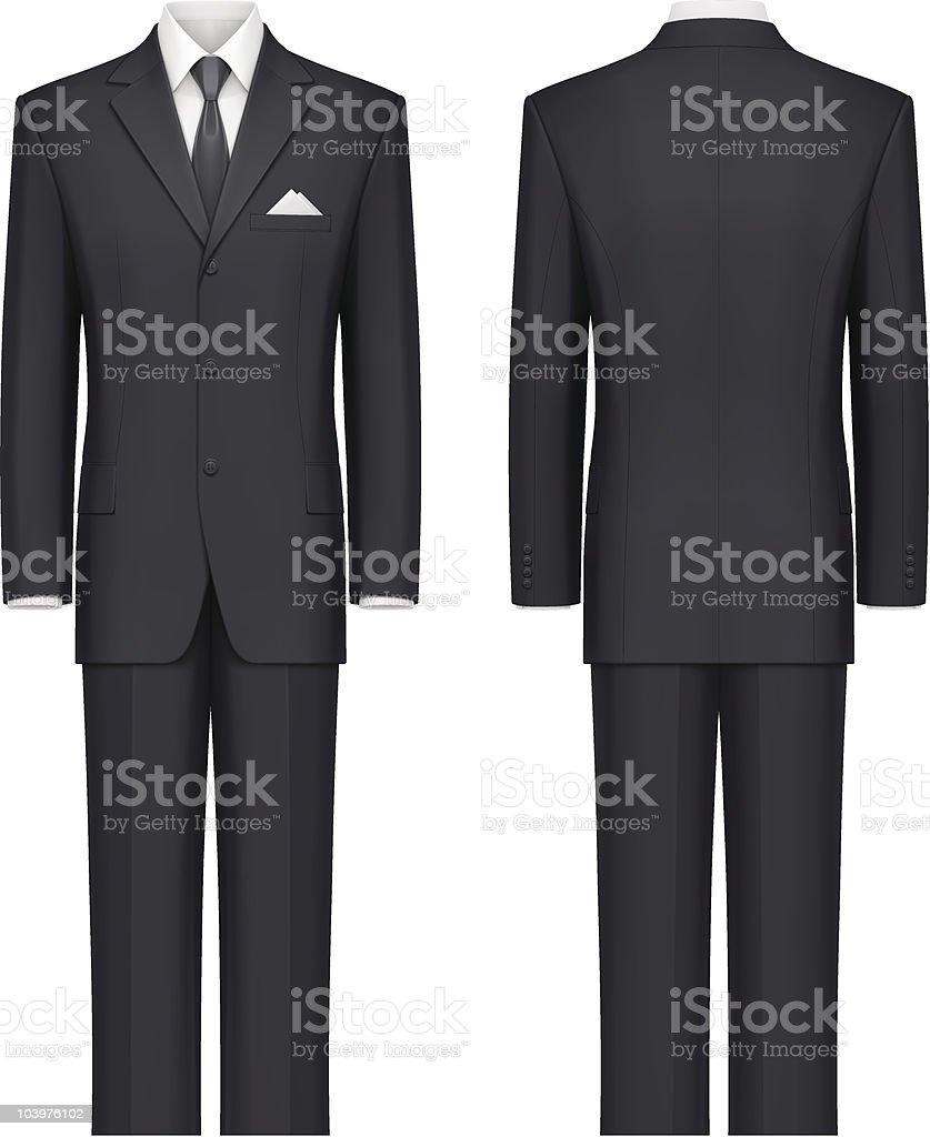 Black suit vector art illustration